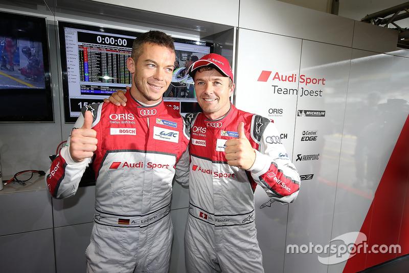 Polesitter #7 Audi Sport Team Joest Audi R18: Marcel Fässler, Andre Lotterer