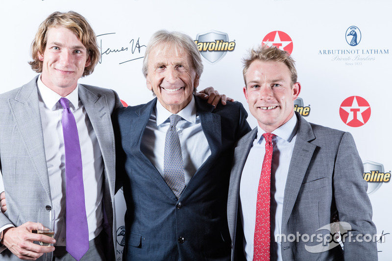 Freddie Hunt, Derek Bell, Tom Hunt at James Hunt's 40th ...