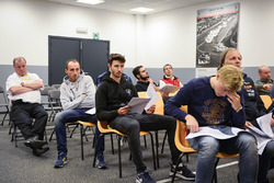 #16 Team Duqueine Renault RS01: Robert Kubica during drivers briefing