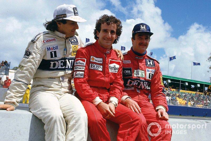 1986: Alain Prost y Nelson Piquet