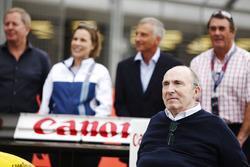 Sir Frank Williams, Martin Brundle, Claire Williams, Riccardo Patrese, Nigel Mansell