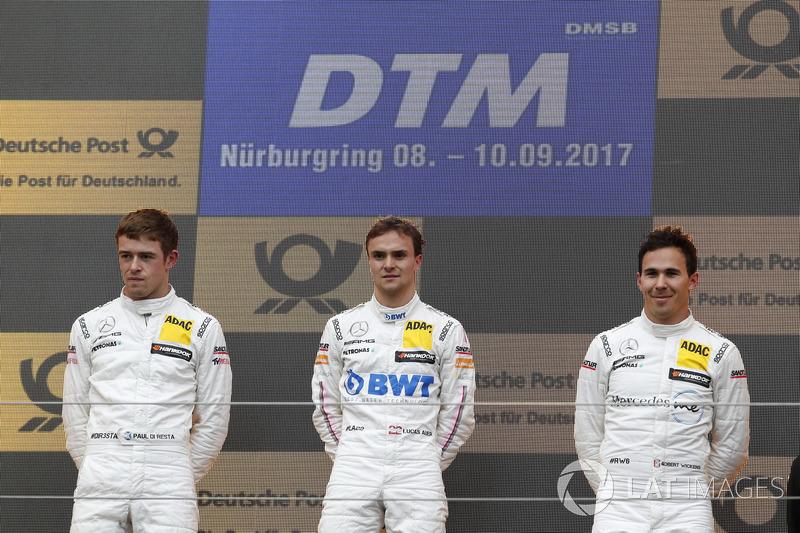 Podio: Ganador de la carrera Lucas Auer, Mercedes-AMG Team HWA, Mercedes-AMG C63 DTM, segundo lugar Paul Di Resta, Mercedes-AMG Team HWA, Mercedes-AMG C63 DTM, tercer lugar Robert Wickens, Mercedes-AMG Team HWA, Mercedes-AMG C63 DTM