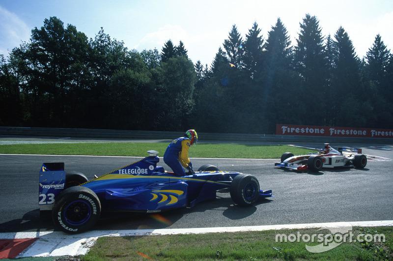 Ricardo Zonta et Jacques Villeneuve, BAR 01-Supertec