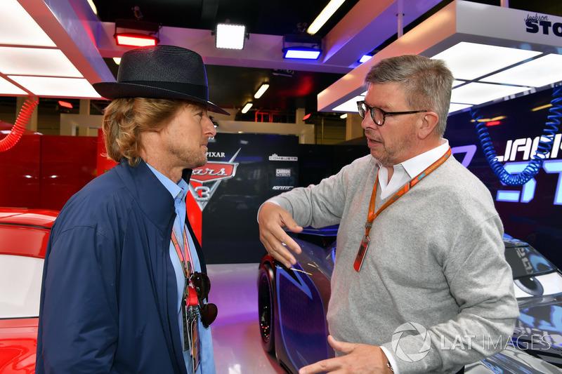 Owen Wilson, Actor y Ross Brawn, Formula One Director de Motorsports