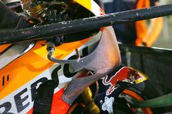 Марк Маркес, Repsol Honda Team, повреждения нового аэродинамического обтекателя после аварии