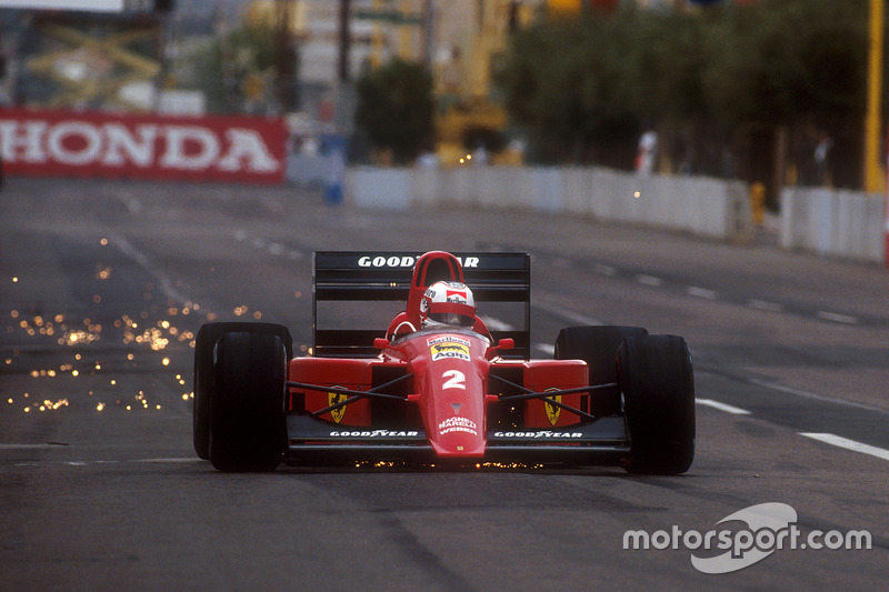1990: poco progreso en la segunda temporada con Ferrari