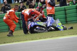 Maverick Viñales, Yamaha Factory Racing, choque
