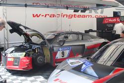 Nico Müller, Marcel Fässler, Audi R8 LMS, Audi Sport Team WRT, garage