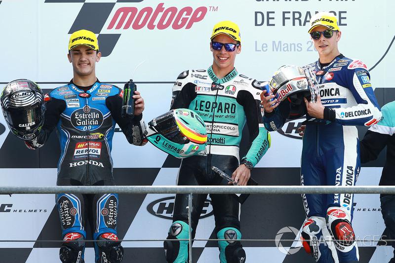 Podio: Aron Canet, Estrella Galicia 0,0, Joan Mir, Leopard Racing, Fabio Di Giannantonio, Del Conca Gresini Racing Moto3