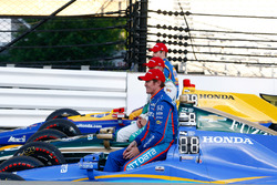 Scott Dixon, Chip Ganassi Racing Honda, Ed Carpenter, Ed Carpenter Racing Chevrolet, Alexander Rossi, Herta - Andretti Autosport Honda