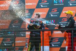 Podium: second place Garth Tander, Holden Racing Team, third place David Reynolds, Erebus Motorsport Holden