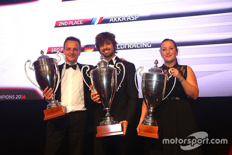 2016 Copa Endurance AM Copa equipos, Kessel Racing, primer lugar, AKKA ASP, segundo lugar, Rinaldi Racing, tercer lugar