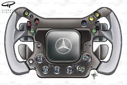 McLaren MP4-23 2008 steering wheel