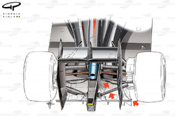 McLaren MP4/30 rear suspension design