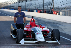 Oriol Servia with the 2018 Honda IndyCar
