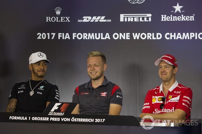 Льюіс Хемілтон, Mercedes AMG F1, Кевін Магнуссен, Haas F1 Team, Себастьян Феттель, Ferrari