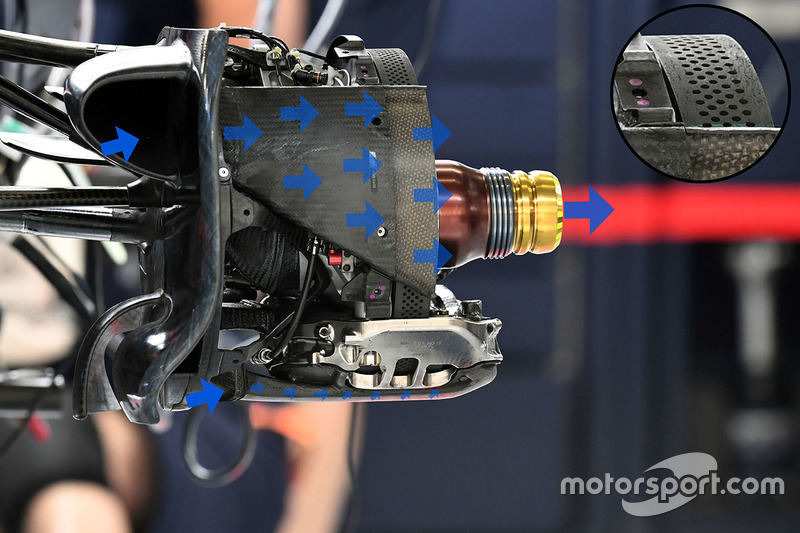 Red Bull Racing RB13: Radnabe Vorderrad