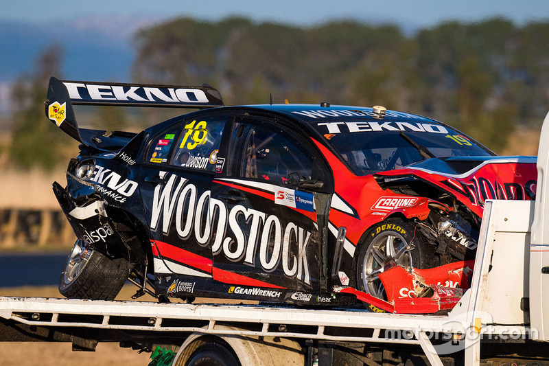 Will Davison, Tekno Autosports Holden car after his crash on the second lap