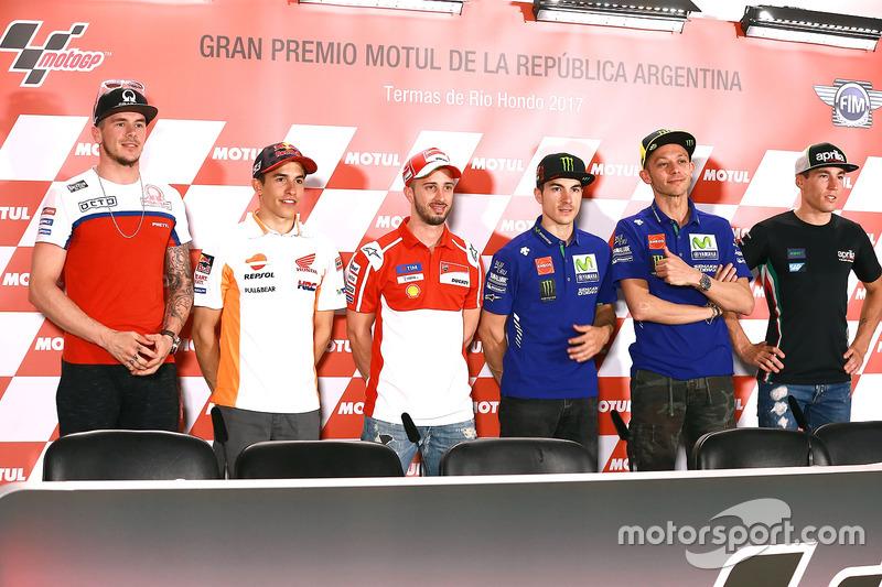 MotoGP alineación de pilotos
