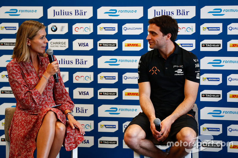 Nicki Shields and Jérôme d'Ambrosio, Dragon Racing in the press conference