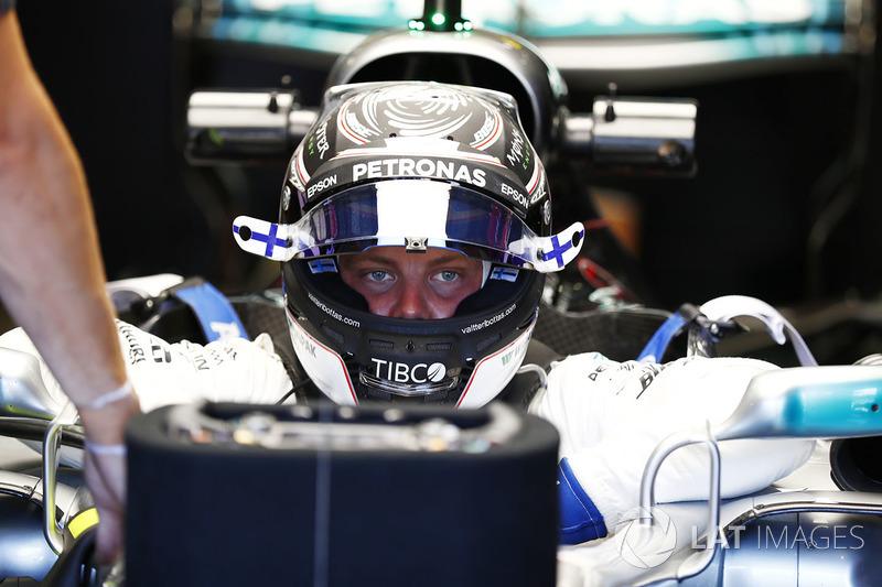 Valtteri Bottas, Mercedes AMG F1, gets in his car