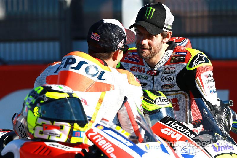 Marc Marquez, Repsol Honda Team; Cal Crutchlow, Team LCR, Honda