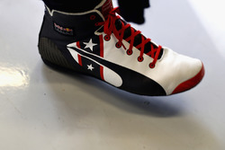 The USA special edition racing boots of Daniel Ricciardo, Red Bull Racing