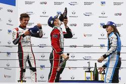 Podium: race winner Sacha Fenestraz, Tech 1 Racing