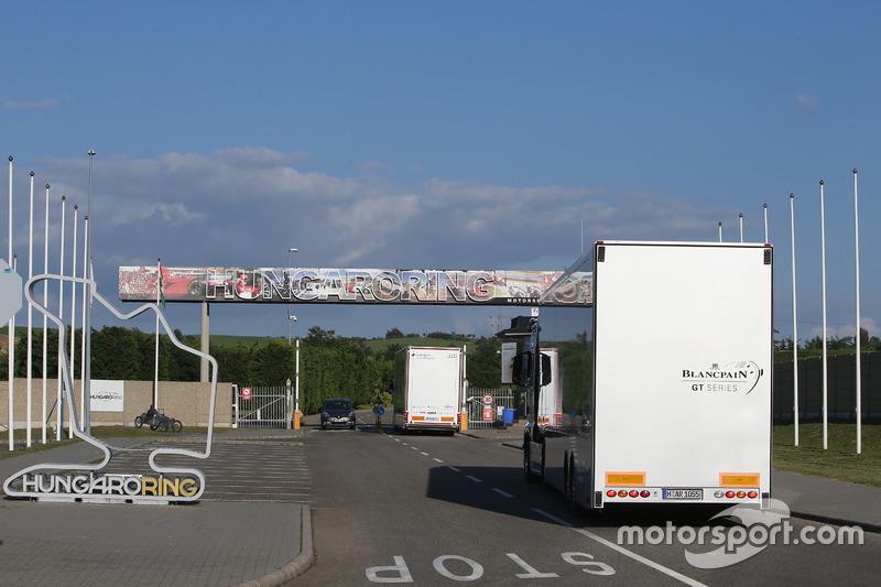I camion della Blancpain Series arrivano all'Hungaroring