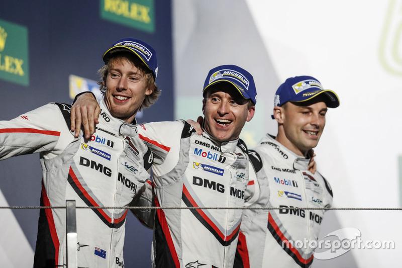 Timo Bernhard, Earl Bamber e Brendon Hartley, com o carro #2 da Porsche foram os campeões com uma prova de antecedência ao terminarem em segundo lugar.