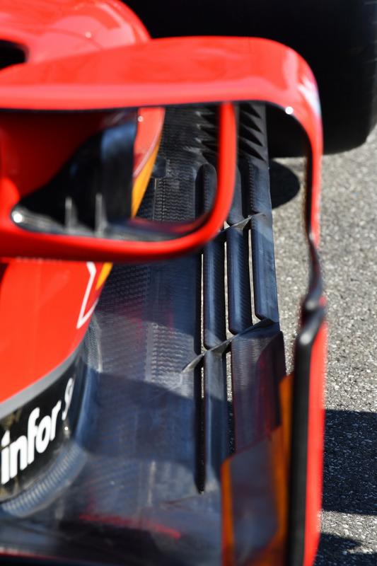 Ferrari SF71H detalle de la barcaza