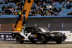Yazeed Al-Rajhi of Team Saudi Arabia driving the Xtreme Pickup