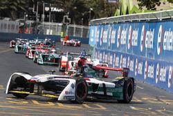 Daniel Abt, Audi Sport ABT Schaeffler Felix Rosenqvist, Mahindra Racing, Mitch Evans, Jaguar Racing