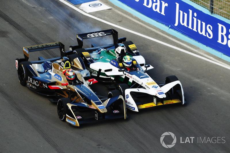 2. Jean-Eric Vergne, Techeetah, battles with Lucas di Grassi, Audi Sport ABT Schaeffler