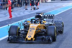 Carlos Sainz Jr., Renault Sport F1 Team RS17 avec des capteurs aérodynamiques
