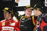 Подіум: 1. Кімі Райкконен, Lotus-Renault. 2. Фернандо Алонсо, Ferrari. 3. Себастьян Феттель, Red - Renault