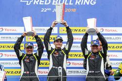 Podium LMP3: winners #15 RLR Msport Ligier JS P3 - Nissan: John Farano, Job Van Uitert, Robert Garofall