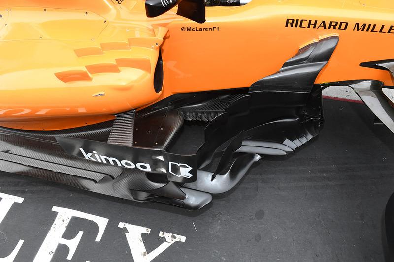 McLaren MCL33 bargeboard detail