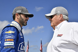 Jimmie Johnson, Hendrick Motorsports Chevrolet, mit Rick Hendrick