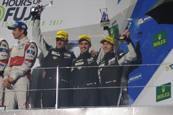 GTE Am podium: third place Christian Ried, Matteo Cairoli, Marvin Dienst, Dempsey-Proton Racing