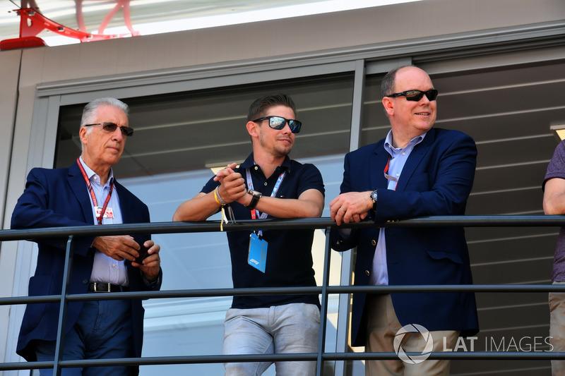 Piero Lardi Ferrari, Vicepresidente de Ferrari, Casey Stoner y Príncipe Alberto de Mónaco