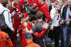 Louis Deletraz, Charouz Racing System with Haas F1 Team driver Roman Grosjean