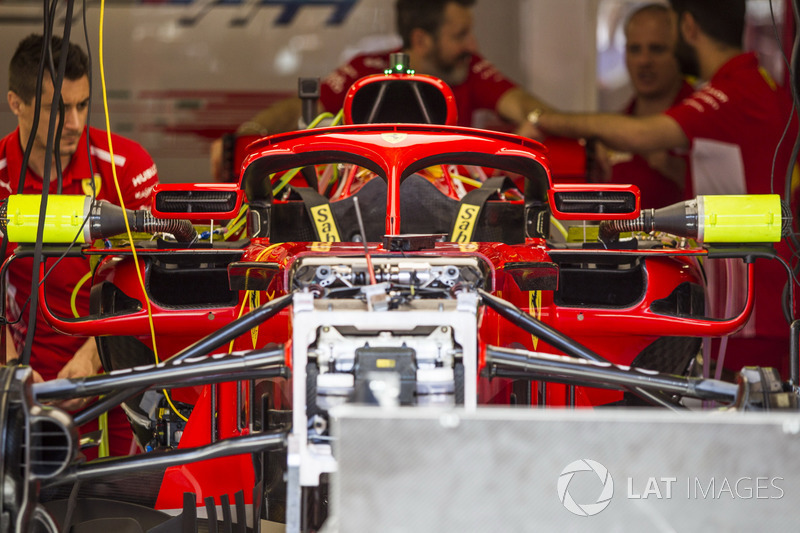 Ferrari SF71H halo wings