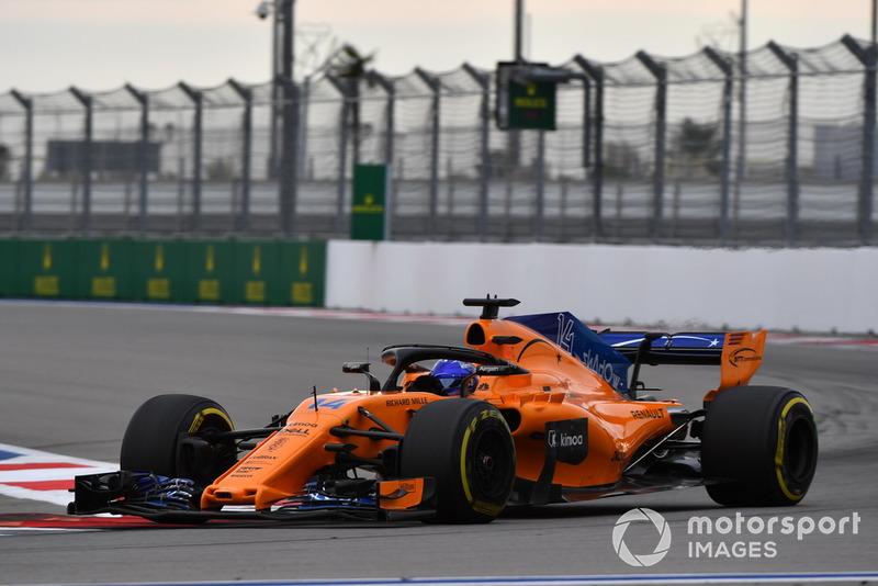 15 місце — Фернандо Алонсо, McLaren. Умовний бал — 5,95