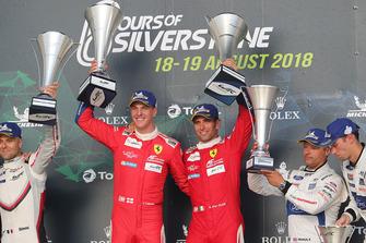 Podium GT Pro: winners #51 AF Corse Ferrari 488 GTE EVO: Alessandro Pier Guidi, James Calado