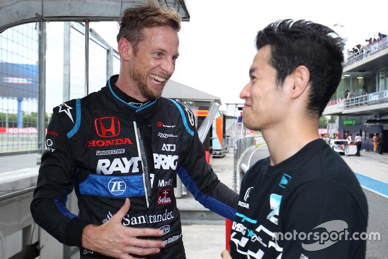 Jenson Button dan Naoki Yamamoto(#100 RAYBRIG NSX-GT)