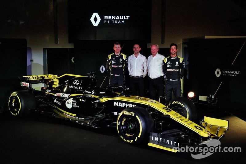 Daniel Ricciardo, Renault Sport F1 Team, Nico Hulkenberg, Renault Sport F1 Team, Cyril Abiteboul, directeur général, Jerome Stroll, président