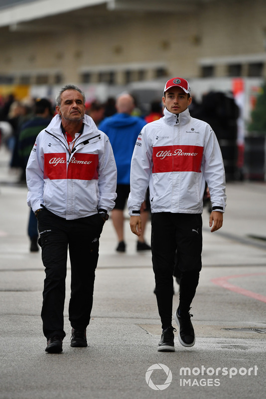 Beat Zehnder, Alfa Romeo Sauber F1 Team Manager e Charles Leclerc, Alfa Romeo Sauber F1 Team