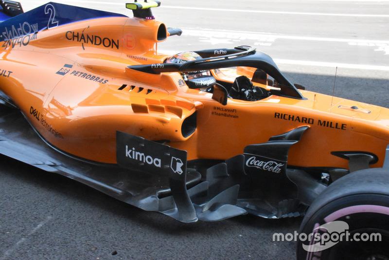 McLaren MCL33, oldalnézet, részlet