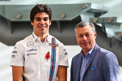 Lance Stroll, Williams with Francois Dumontier, Montreal Circuit Promoter